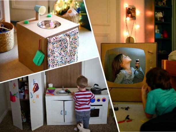 Дети точно будут в восторге! 18 гениальных поделок из картонных коробок!