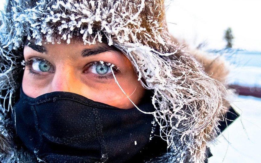 Прикольные картинки морозный день