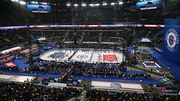 Матч СКА – ЦСКА на стадионе в Петербурге собрал 61810 зрителей