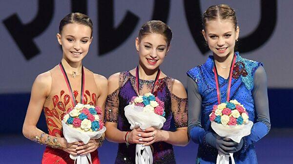 Косторная, Трусова и Щербакова показали танец с репетиции