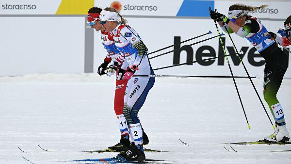 Шведские лыжницы выиграли командный спринт на этапе КМ в Словении