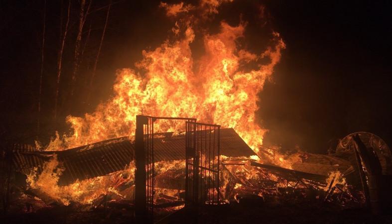 Вчера вечером у пожарных Карелии было много работы