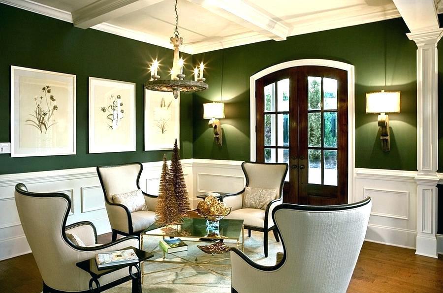 Гостиная в зеленых тонах: сочетание цветов, фото, советы дизайнеров