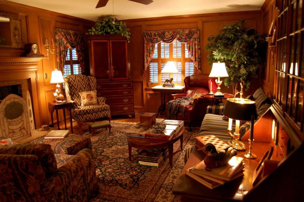 Английская гостиная: особенности стиля, декор, мебель