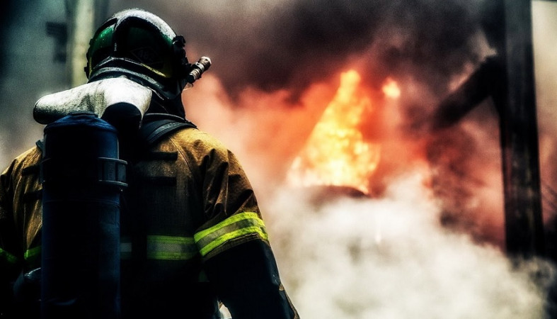 Баня сгорела в Пудоже